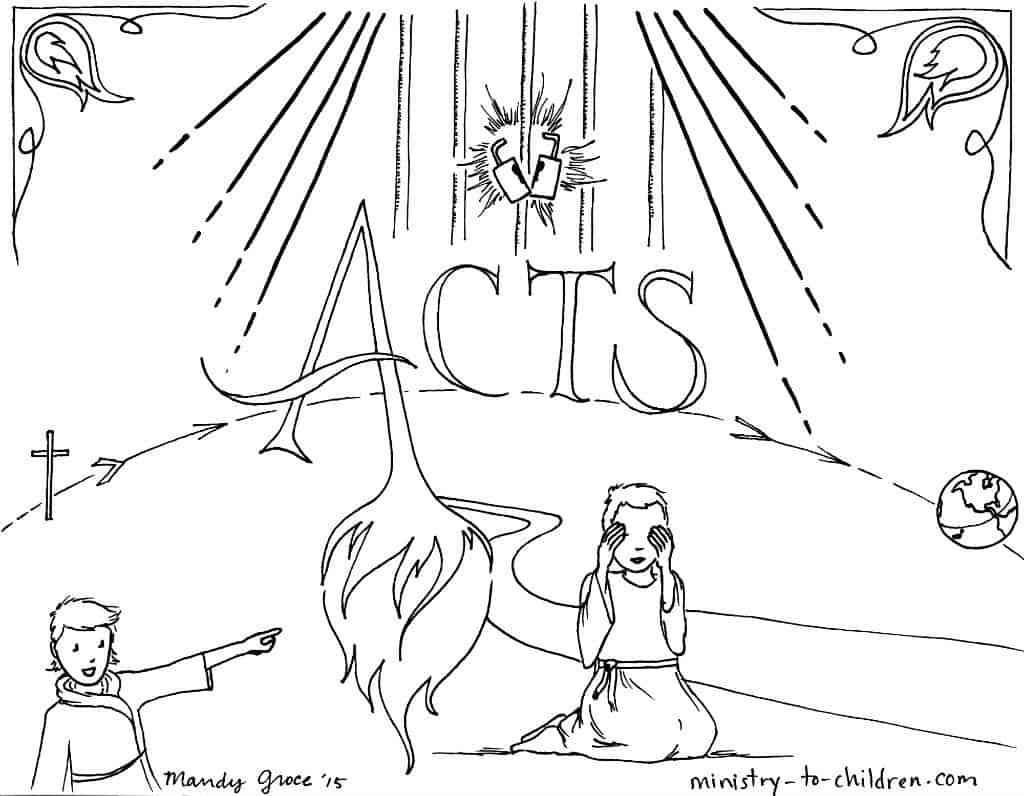 Acts Bible Book Coloring Page Ministry To Children