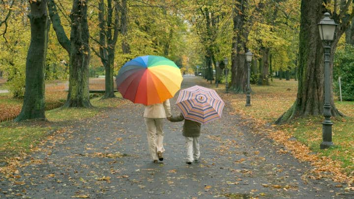 God Protects Us - Umbrella Object Lesson (Exodus 14:22) for Sunday School