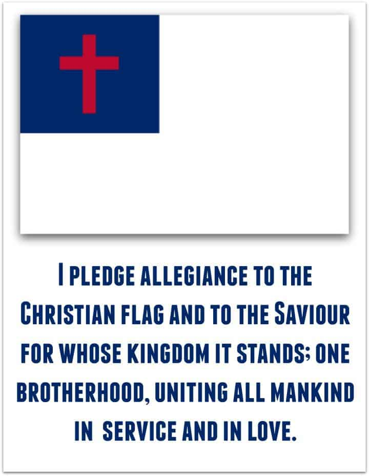 picture about Pledge of Allegiance Words Printable named Pledge in direction of the Christian Flag - Ministry-Towards-Youngsters