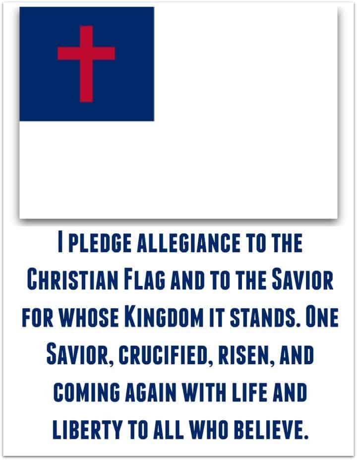 Christian Flag Pledge with Gospel Version