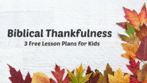 Thanksgiving Ideas For Children S Ministry