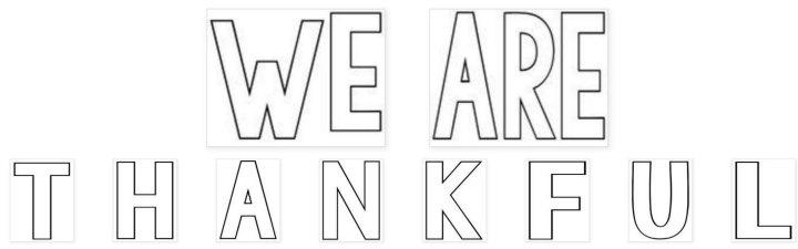 photo regarding Thankful Printable named WE ARE Grateful\