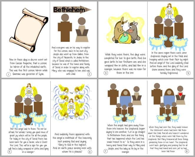 THE Christmas Story - Luke 2:1-20 Printable Booklet ...