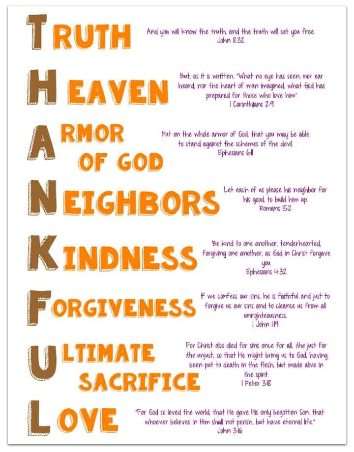 picture regarding Christmas in Heaven Poem Printable known as Grateful Acrostic Printable with Bible Verses - Ministry-In direction of