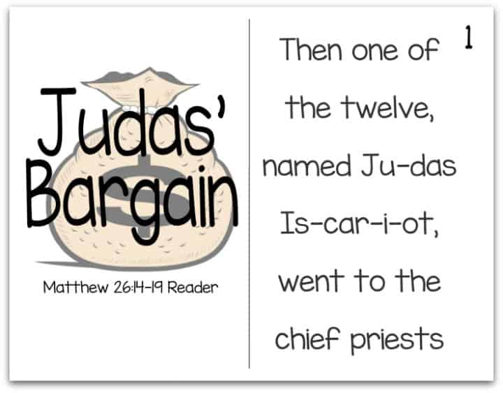 Printable Resurrection Story (Part 3 of 7) Judas' Bargain (Matthew 26:14-19)