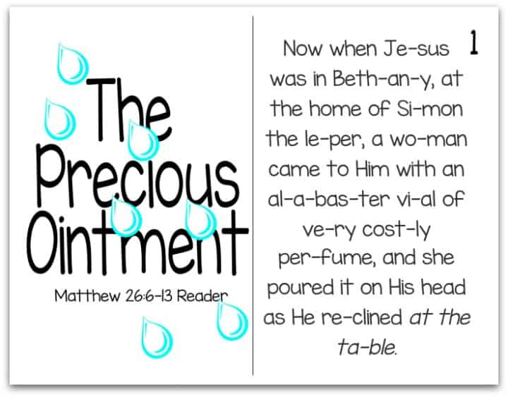 Printable Resurrection Reader - (Part 2 of 7) - The Precious Ointment