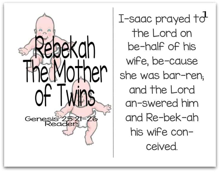 Story of Rebekah Reader (Mothers of the Bible Part 3 of 9)