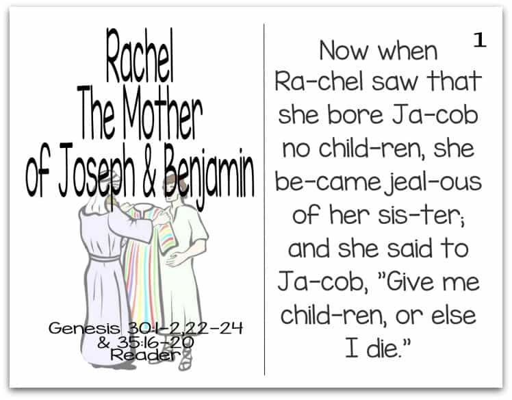 Story of Rachel Reader (Mothers of the Bible Part 4 of 9)