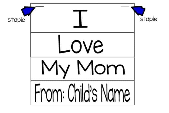 Mother's Day Flip Book - Easy Gift Idea