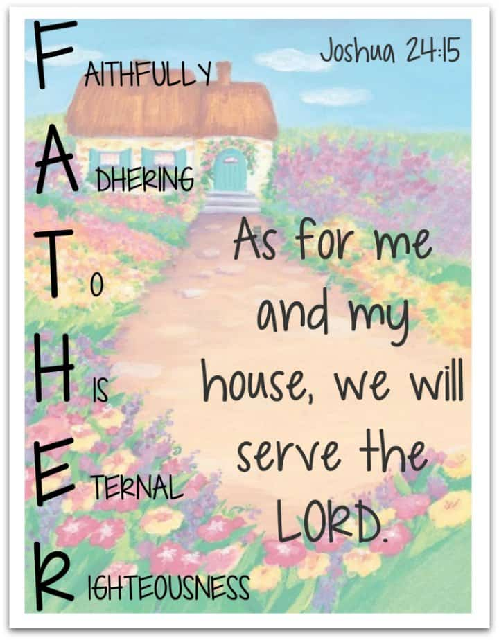 Father Acrostic Poster and Poem Activity