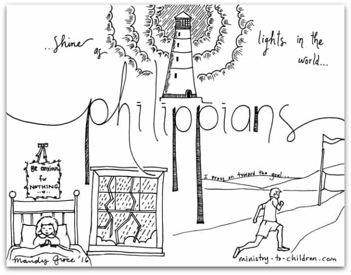 Philippians Bible Book Coloring Page Ministry To Children