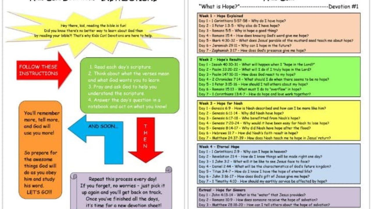 Printable Devotions For Kids 100 Free Short Devotional Ideas