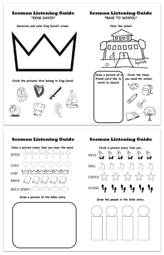 image about Printable Sermons known as Printable Sermon Listening Worksheets for Children - Ministry-In direction of