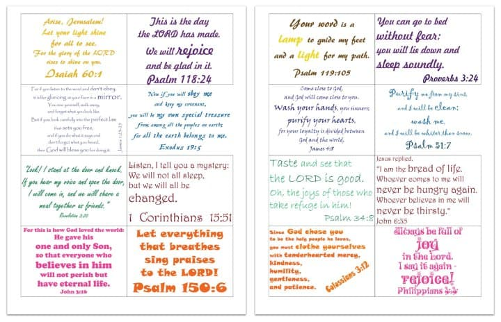 picture regarding Free Printable Bible Verses called Devoted: Household Bible Verses (Absolutely free Printable Playing cards