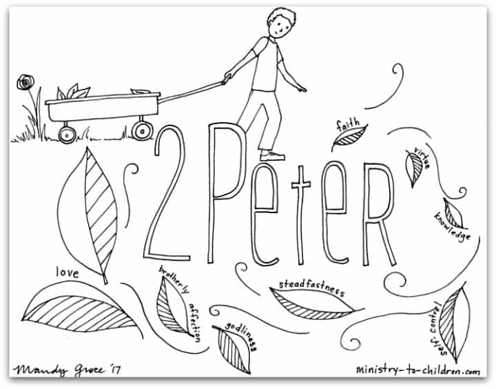 """2 Peter"" Bible Book Coloring Page 