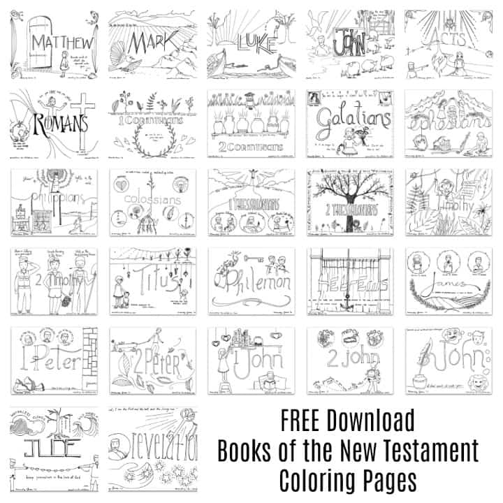 New Testament Books of the Bible Coloring Pages for Kids