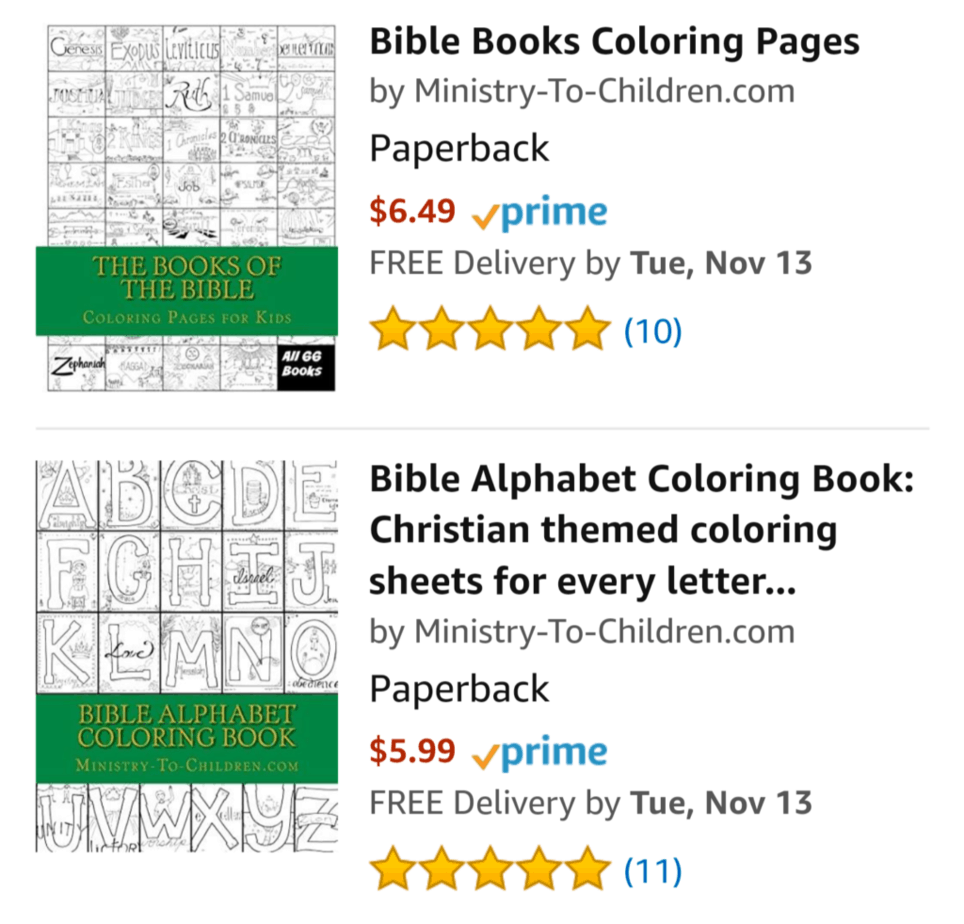 Printed Coloring Books from Ministry-To-Children - Ministry