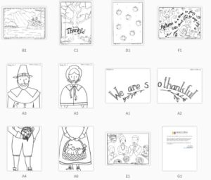 thanksgiving coloring pages for children's church
