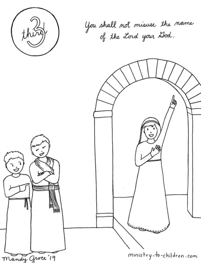 3rd commandment Sunday School Lesson for kids
