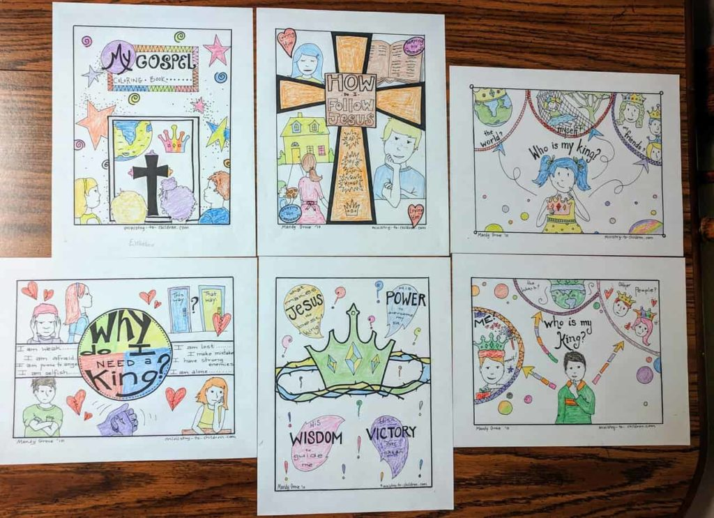 Bible Coloring Pages - Jesus is My King