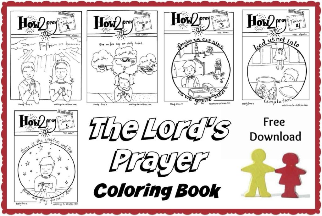 graphic regarding Free Printable Coloring Pages on Prayer known as The Lords Prayer for Young children - No cost Courses, Routines