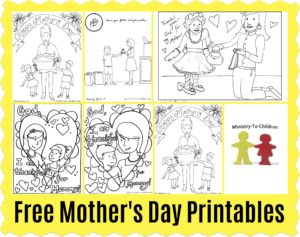 Christian Mother's Day Coloring Pages