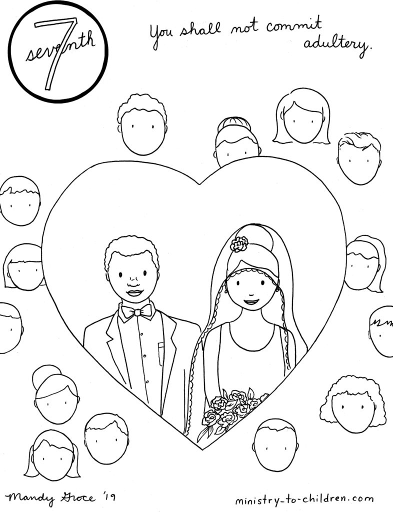 7th Commandment Coloring Page