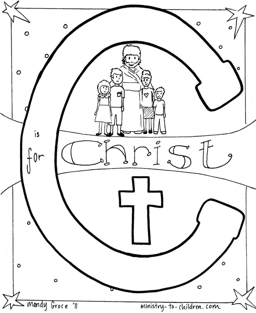 Mary Anoints Jesus' Feet Coloring Page | 1024x838