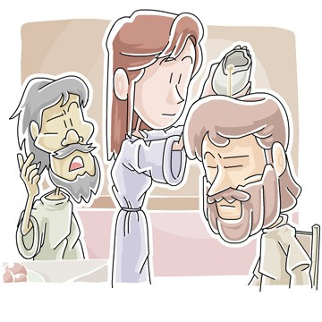 Jesus anointed with perfume clip art - Jesus Gets Ready for the Cross Lesson from Matthew 26:1-13