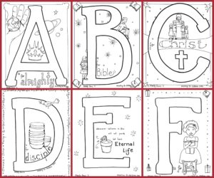 Bible Alphabet Coloring Book - Free Printable
