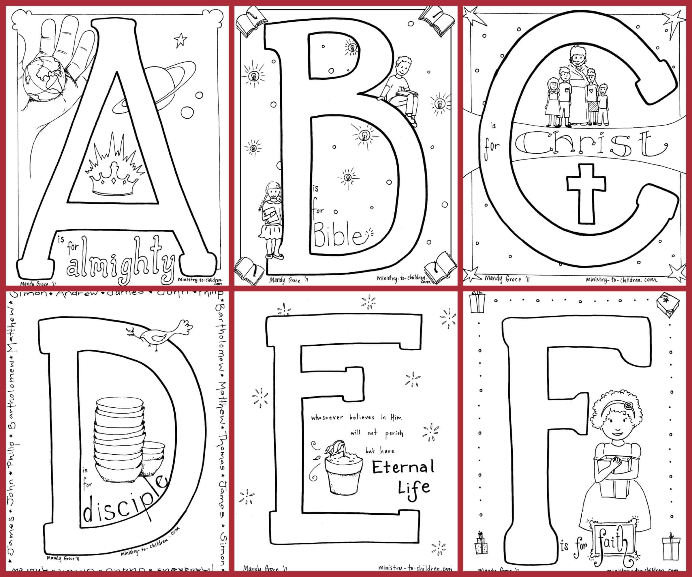 Bible Alphabet Coloring Pages 100 Free