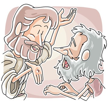 Jesus and Doubting Thomas Clip Art