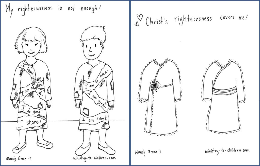 Christ's Righteousness Covers Me - Coloring Page for Romans 3 Lesson