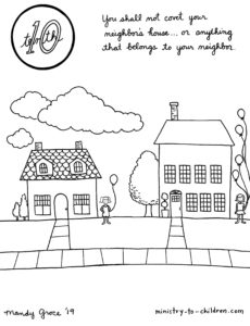 Do Not Covet Coloring Page