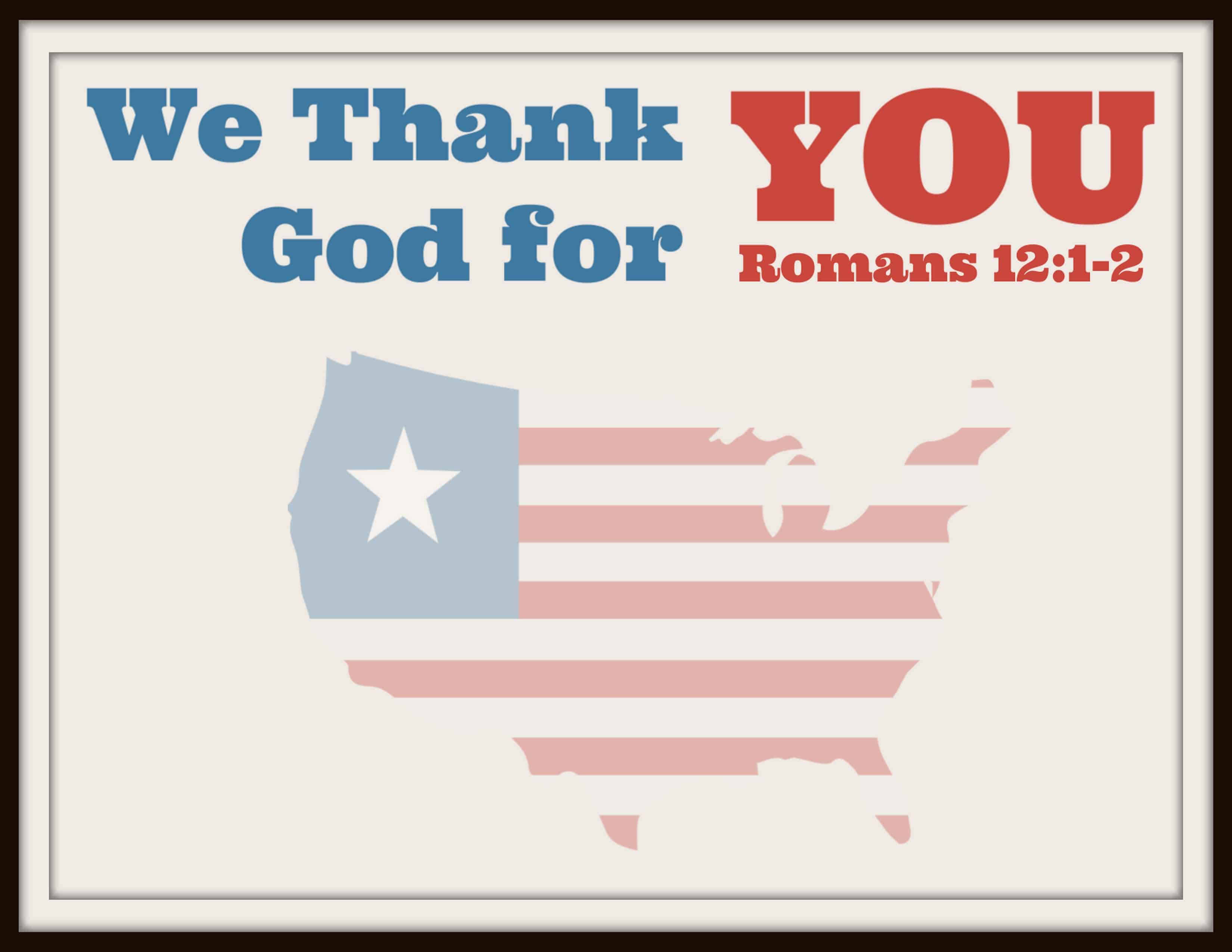 Thank You for Your Sacrifice (Printable Card) Ministry-To ...