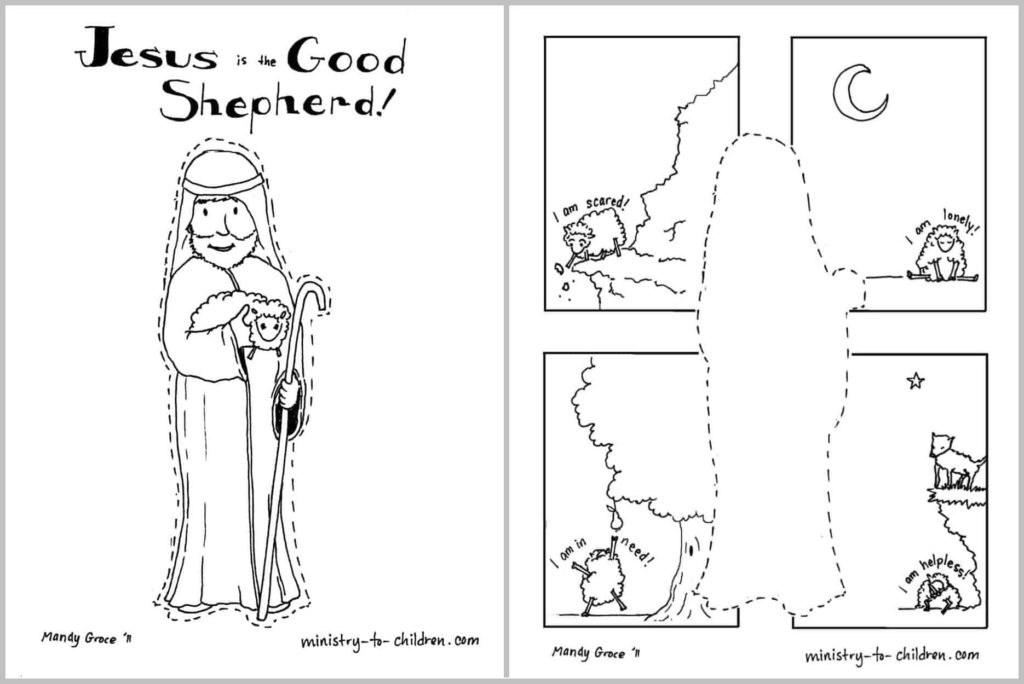 Jesus is the Good Shepherd Coloring