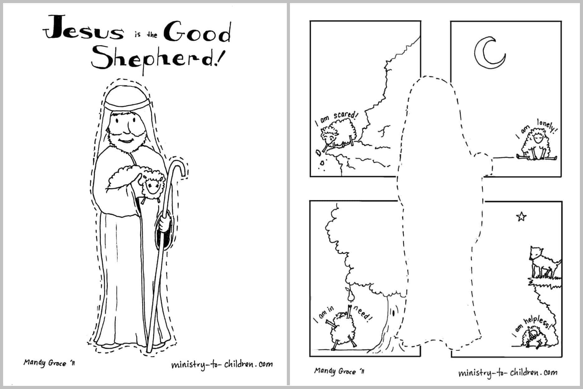 jesus the sheperd coloring pages | Jesus is the Good Shepherd [Coloring Page] Easy Print ...