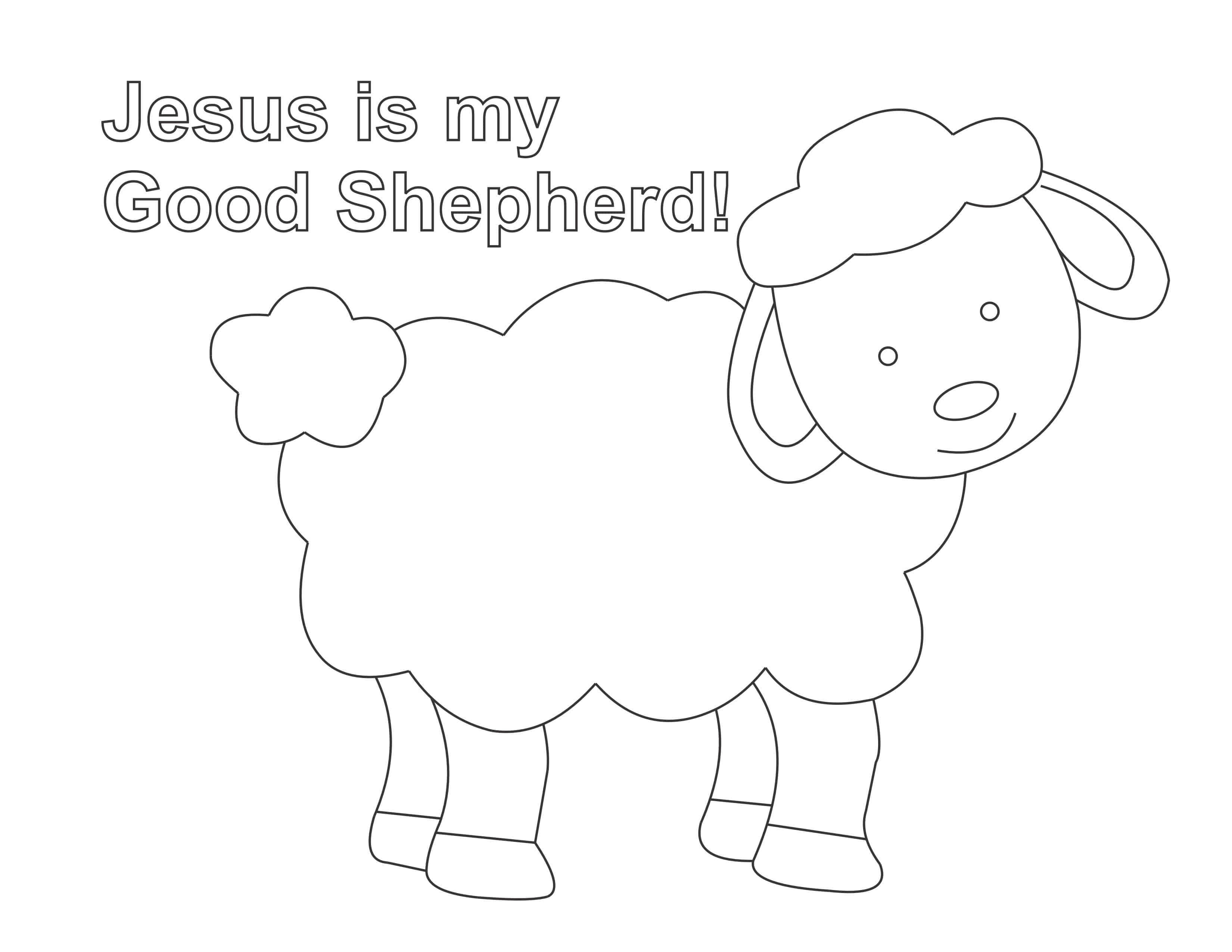 Jesus is the Good Shepherd Coloring Page Easy Print ...