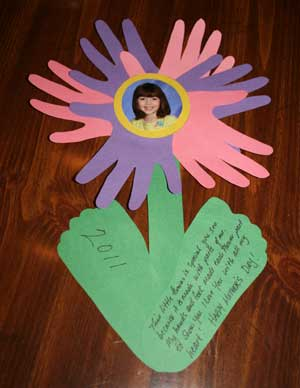 Mother's Day hand & footprint flower