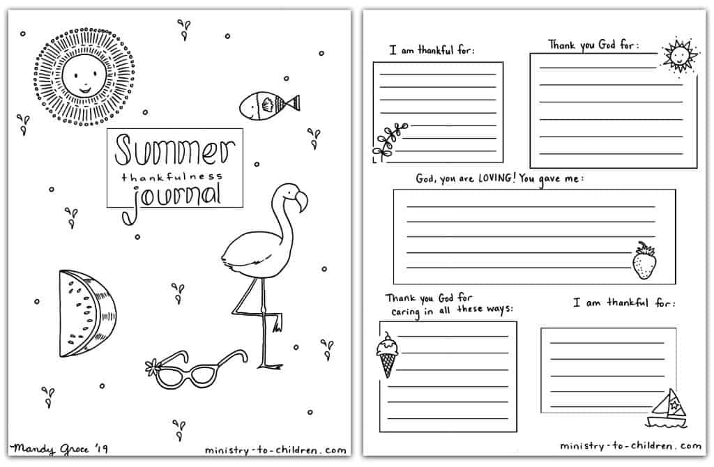 Summer Journal (Coloring Pages) for Kids
