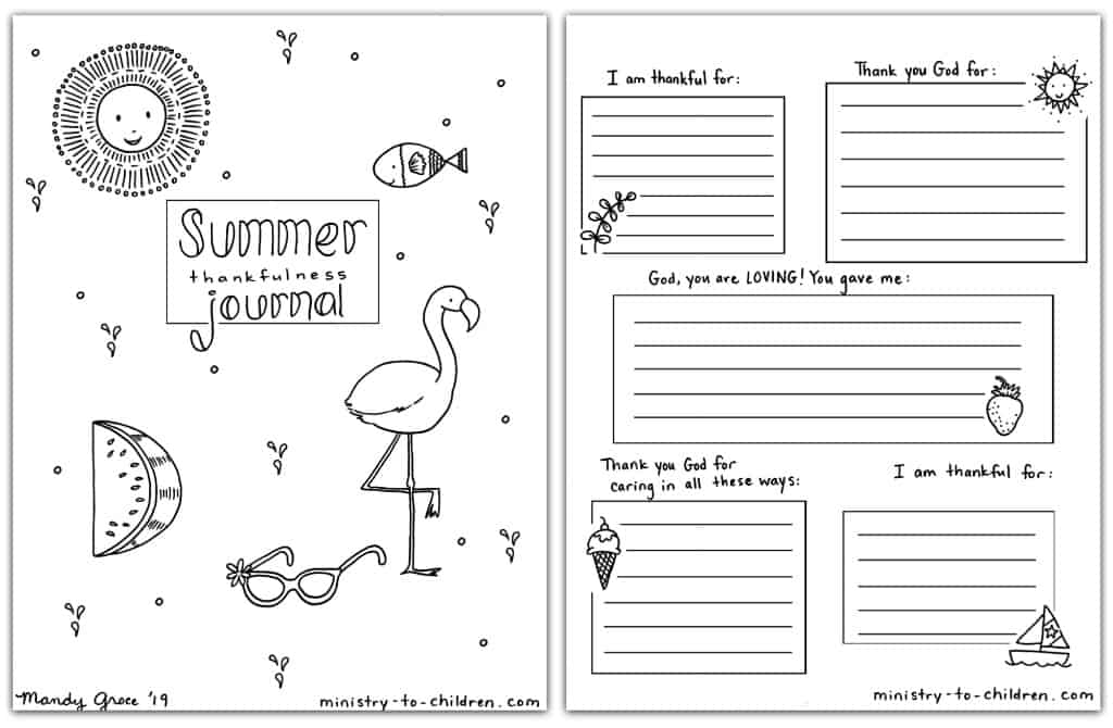 Summer Journal Coloring Pages for Kids Free Printable PDF