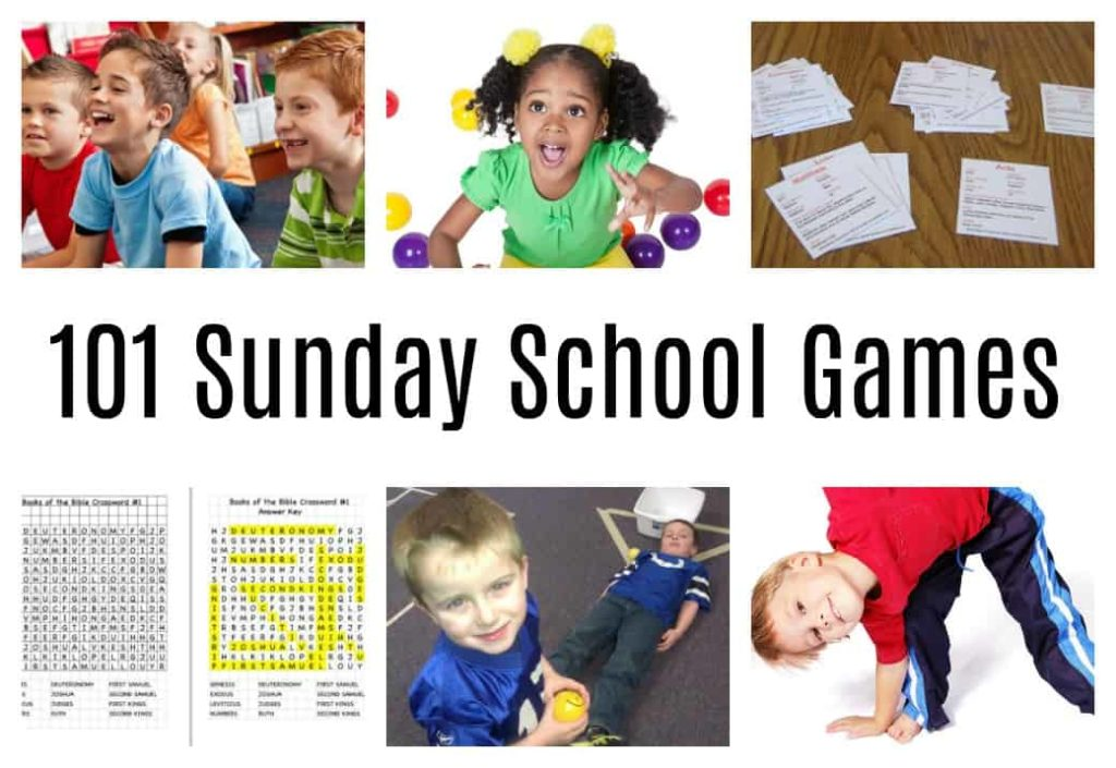 image relating to Free Printable Children's Church Curriculum referred to as 101 Sunday Faculty Online games (Exciting Basic) Bible Routines for Children