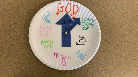 Putting God First - Clock craft for Sunday School