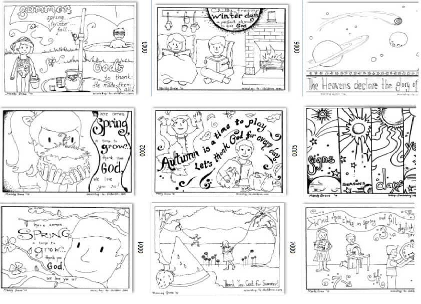 Seasonal Coloring Pages For Kids Free Printables