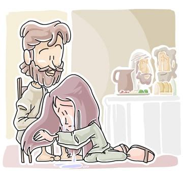 "Sunday School Lesson (Luke 7:37-48) Sinful Woman Anoints Jesus"""