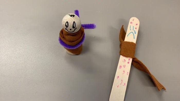 "Sunday School ""Leper Popsicle stick Puppet"" Luke 17:11-19"