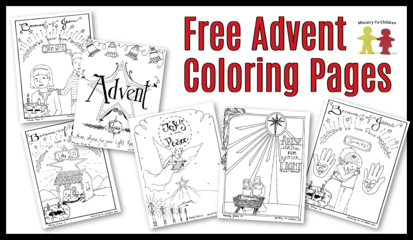 free advent coloring pages for kids christmas printables. Black Bedroom Furniture Sets. Home Design Ideas