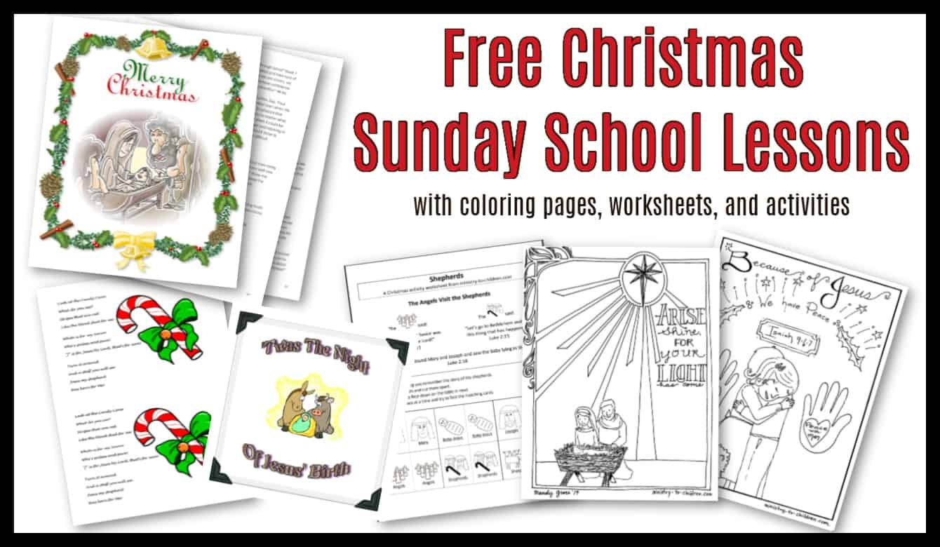 30 Christmas Sunday School Lessons Activities 100 Free