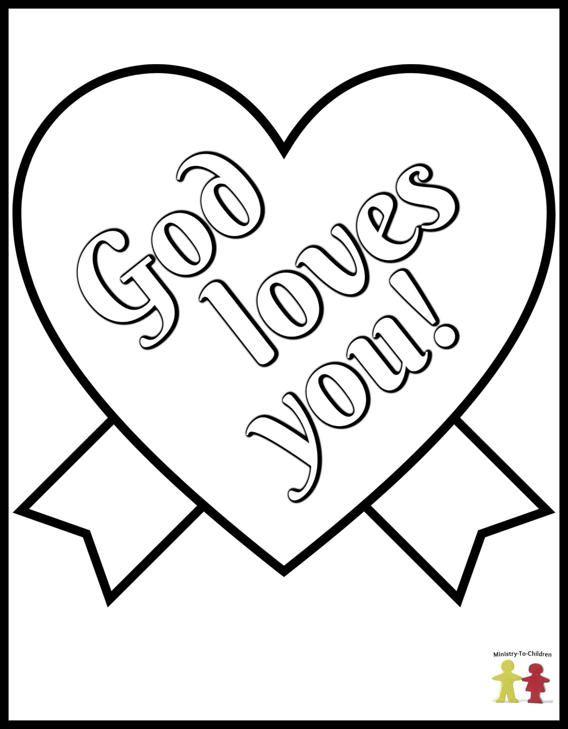 free christian coloring pages of a heart | Christian Valentines Day Coloring Pages about Love (100% Free)
