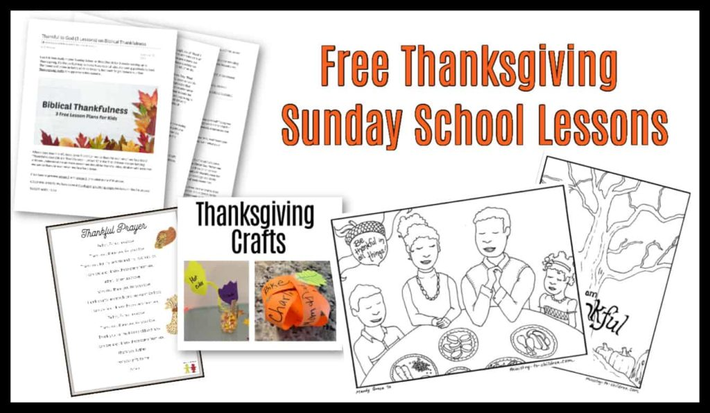 thanksgiving sunday school lessons